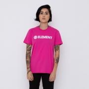 Camiseta Element Feminina Logo Rosa