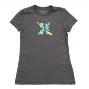 Camiseta Hurley Icon Smoke Feminino Preta
