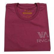 Camiseta RVCA Dry Brush Vinho