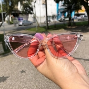 Óculos Anti Social Hawaii Translucent Pink
