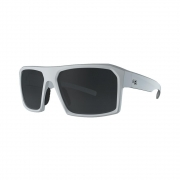 Óculos HB Split Carvin Pearled White Silver Lenses