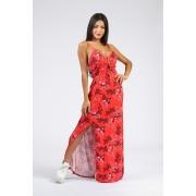 Vestido Riu kiu Longo Miss Vermelho