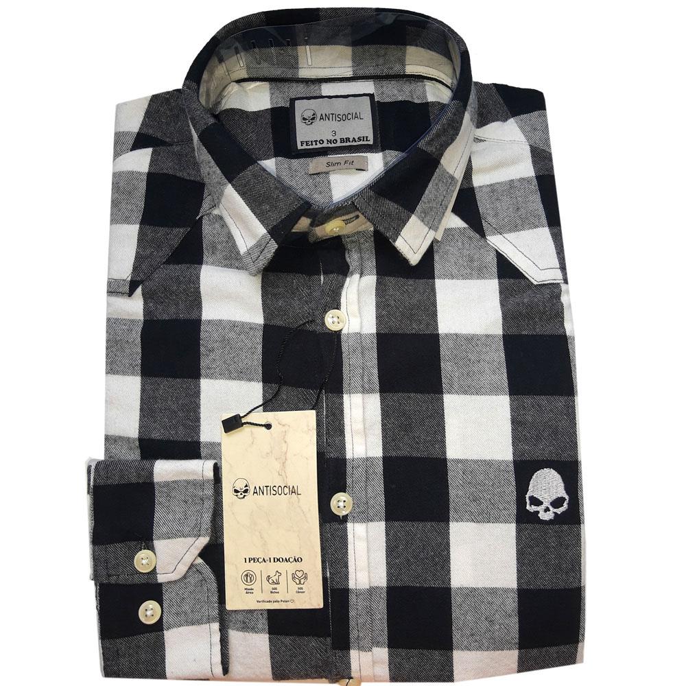Camisa Anti Social Flanela Slim Fit