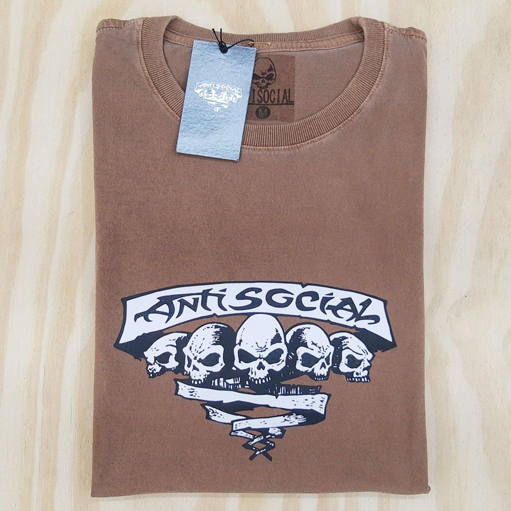 Camiseta Anti Social Originals Stoned Marrom
