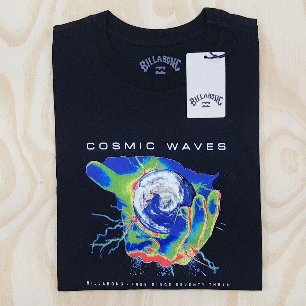 Camiseta Billabong Cosmic Waves Preto