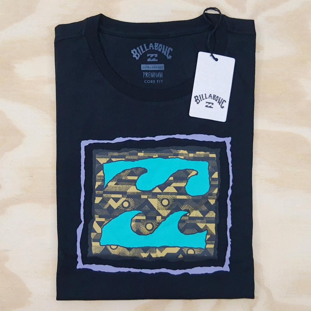 Camiseta Billabong Crayon Wave III Preta