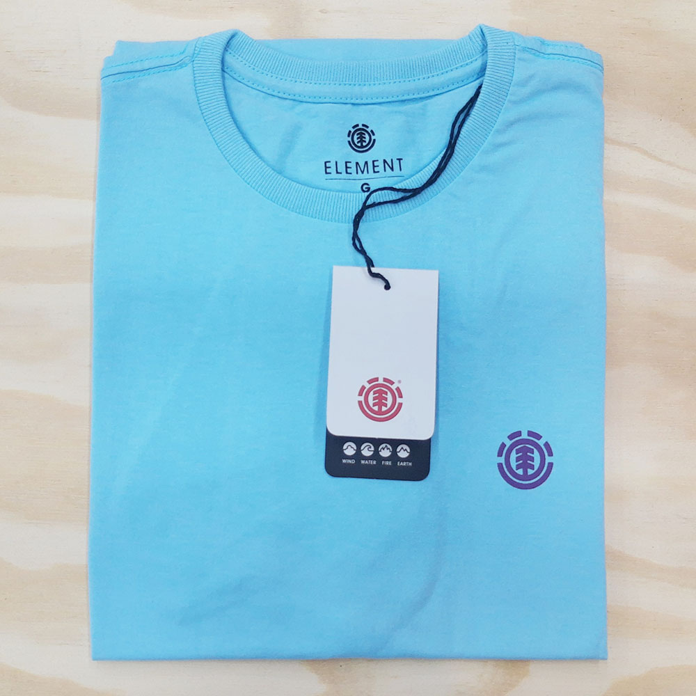 Camiseta Element Basic Crew Azul