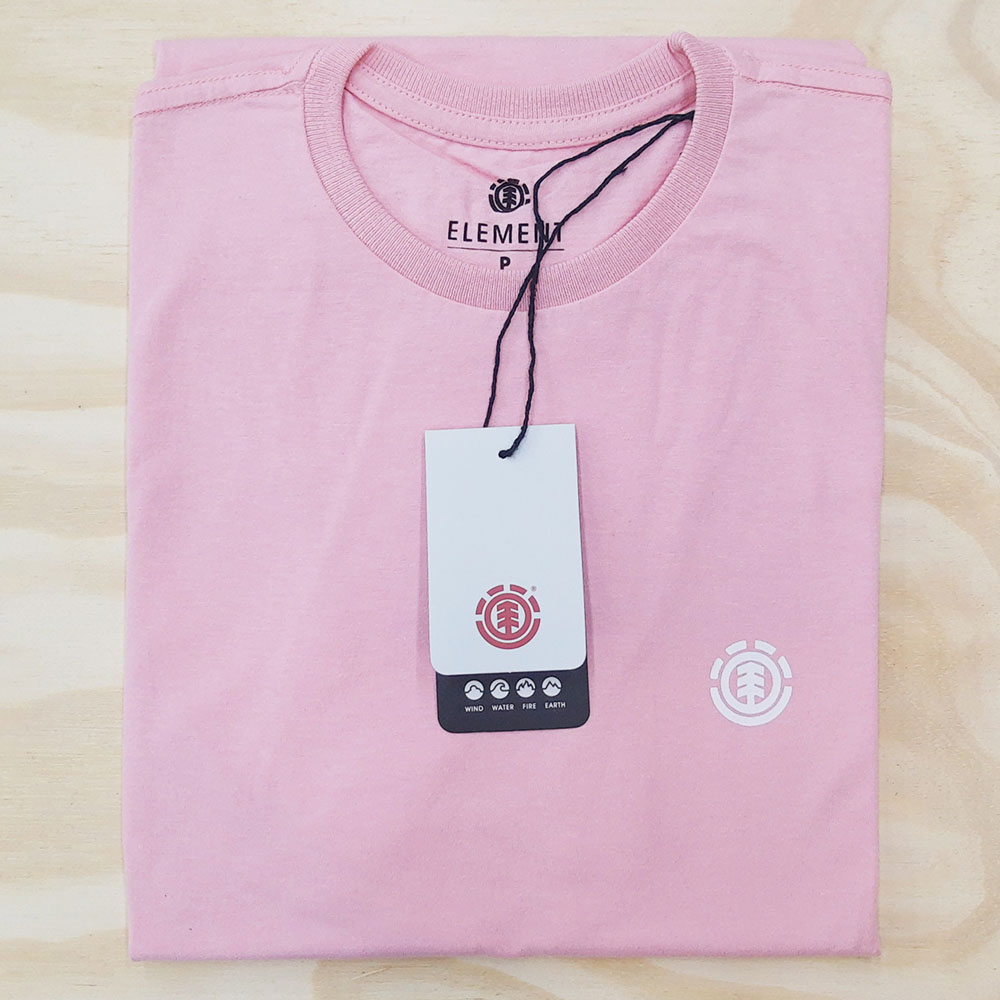 Camiseta Element Basic Crew Rosa