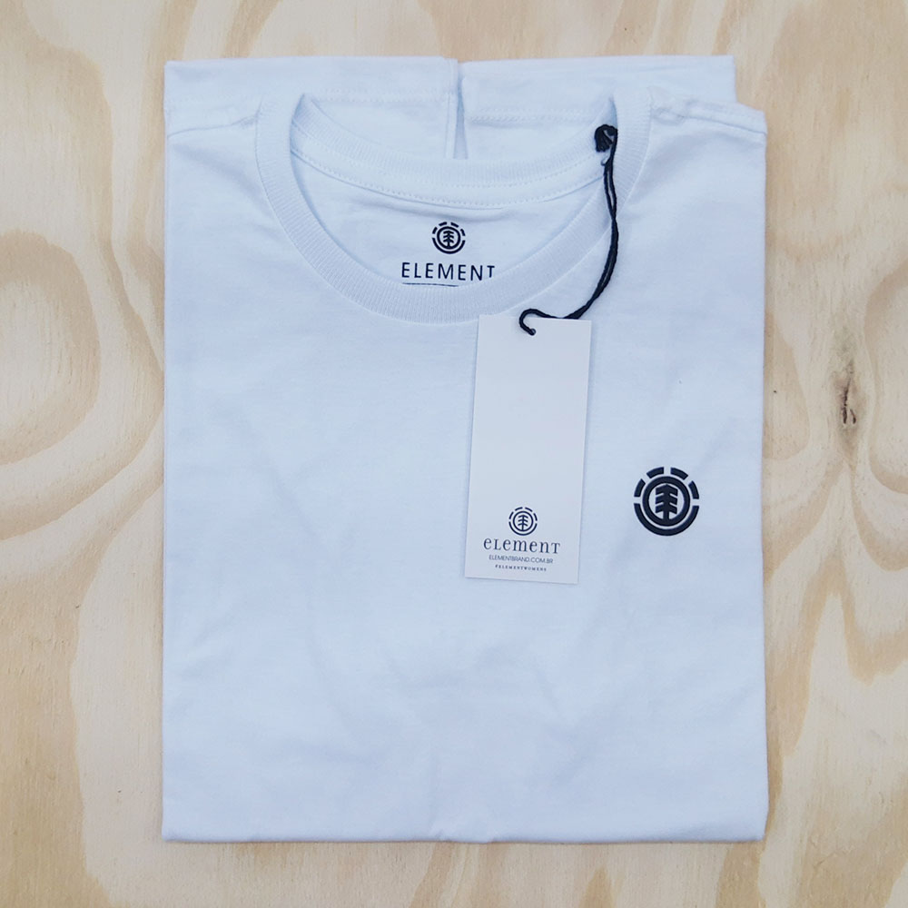 Camiseta Element Feminina Minimal Logo Branco