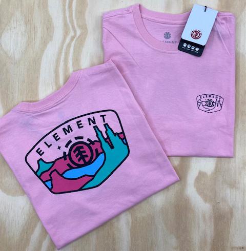 Camiseta Element Navio Rosa