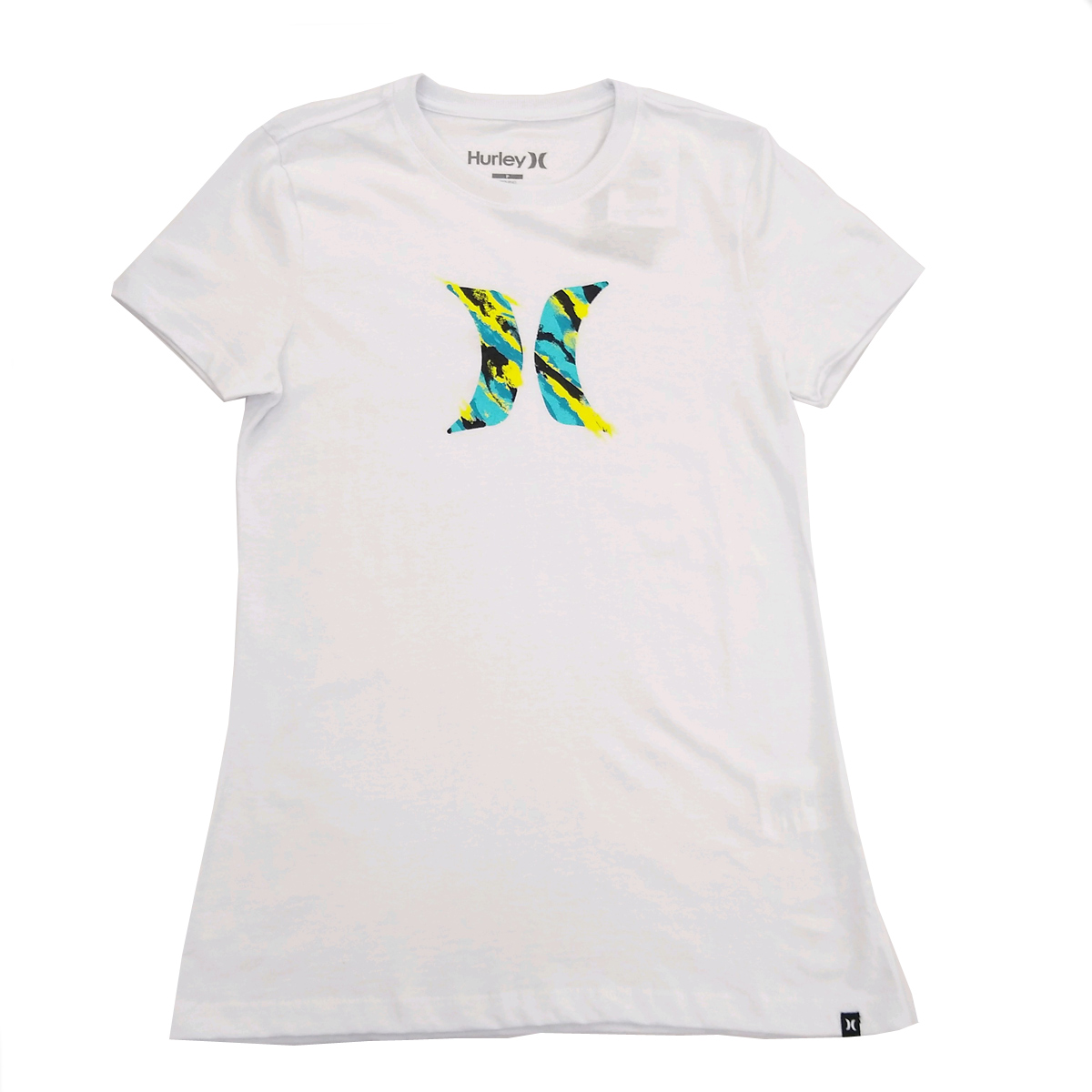 Camiseta Hurley Icon Smoke Feminino Branca