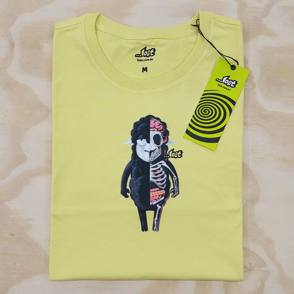 Camiseta Lost Anatomic Amarela