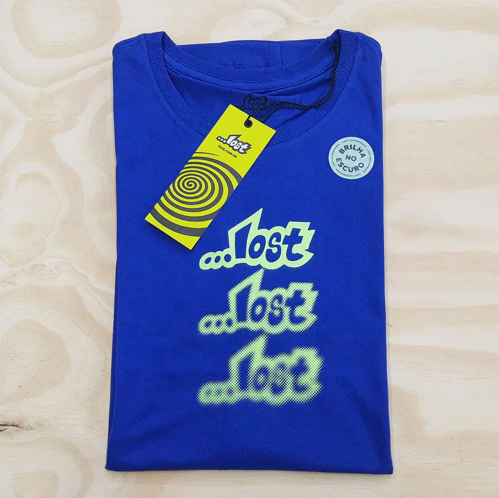 Camiseta Lost Glow Azul