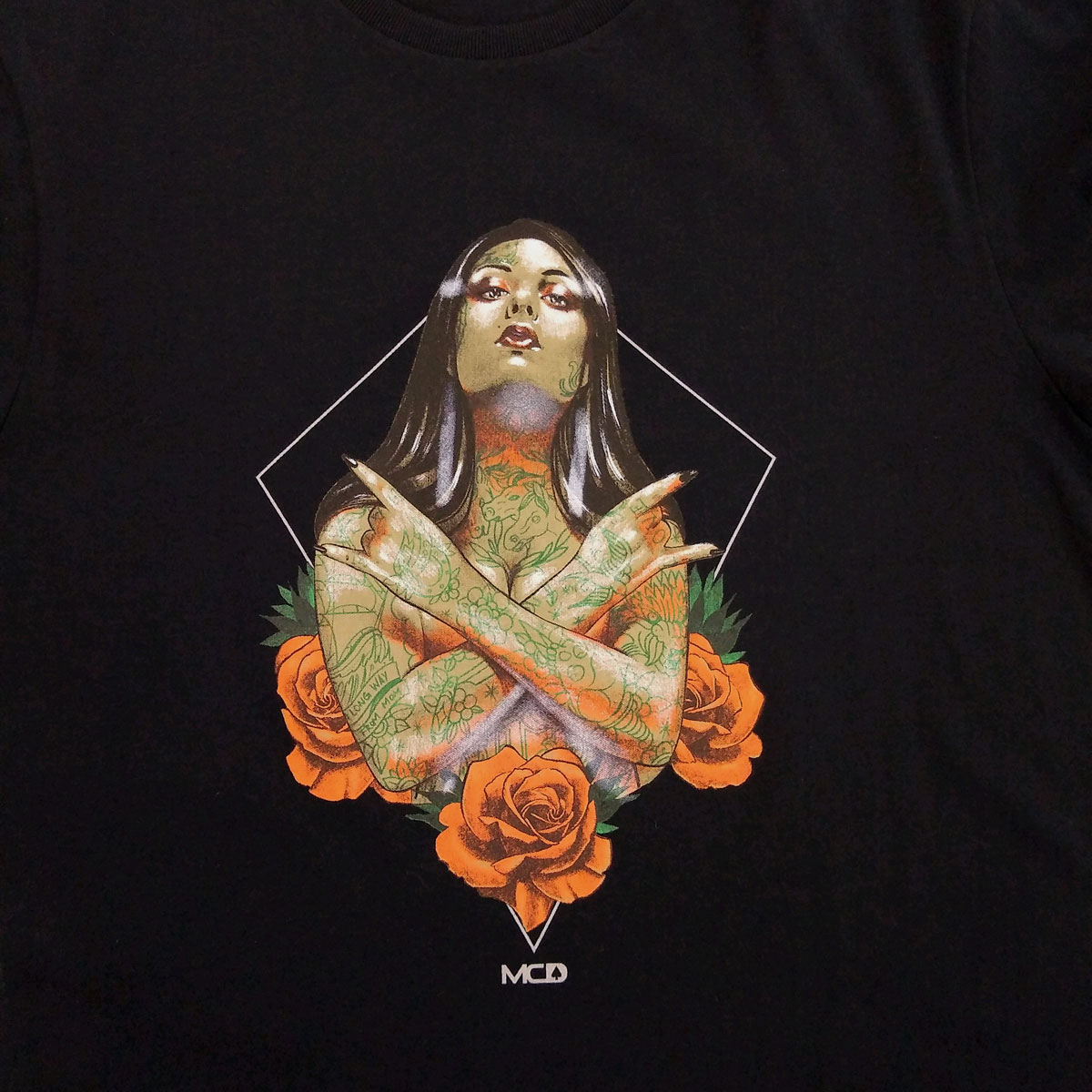 Camiseta MCD Tatto Girl Preta