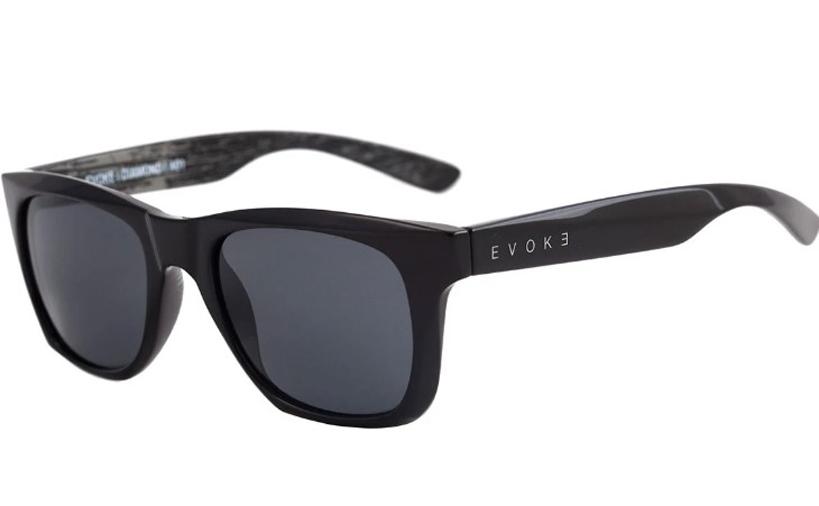 Evoke Diamond A01 Black Shine Gray Wood Silver Black