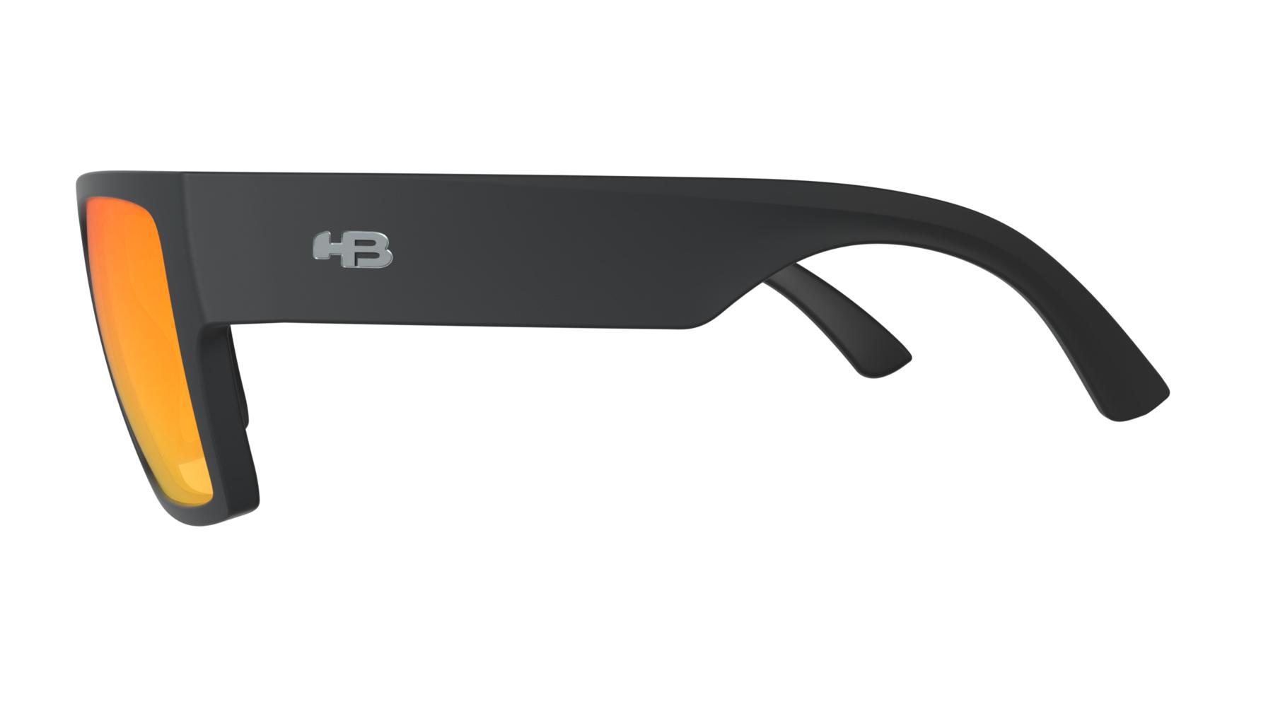 Óculos HB Loud Matte Black Red Chrome