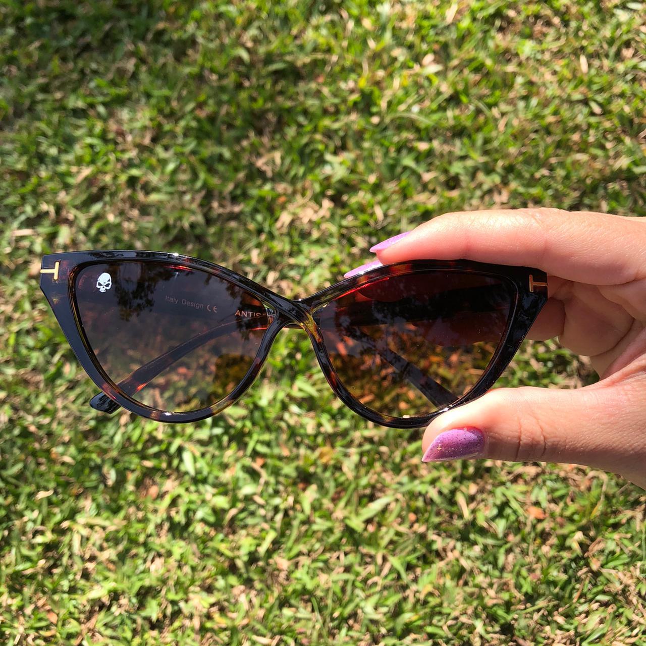Óculos Anti Social Hawaii Turtle Brown
