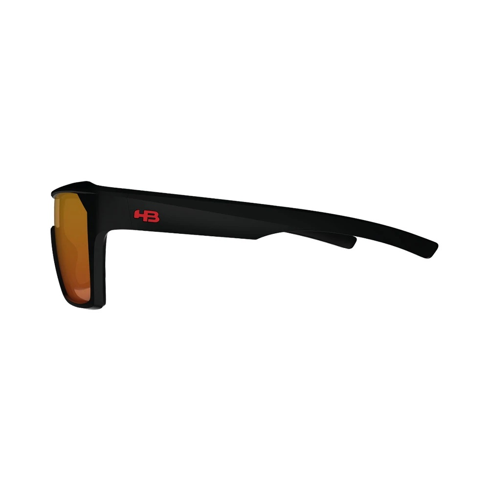 Óculos HB Carvin 2.0 Matte Black Red Chrome Lenses