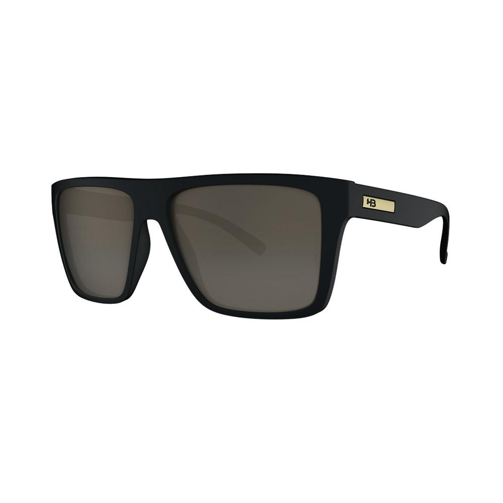 Óculos HB Floyd Matte Black Gold Chrome Lenses