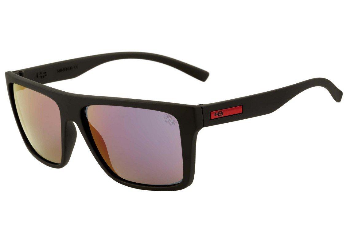 Óculos HB Floyd Matte Black  Pink Chrome Lenses