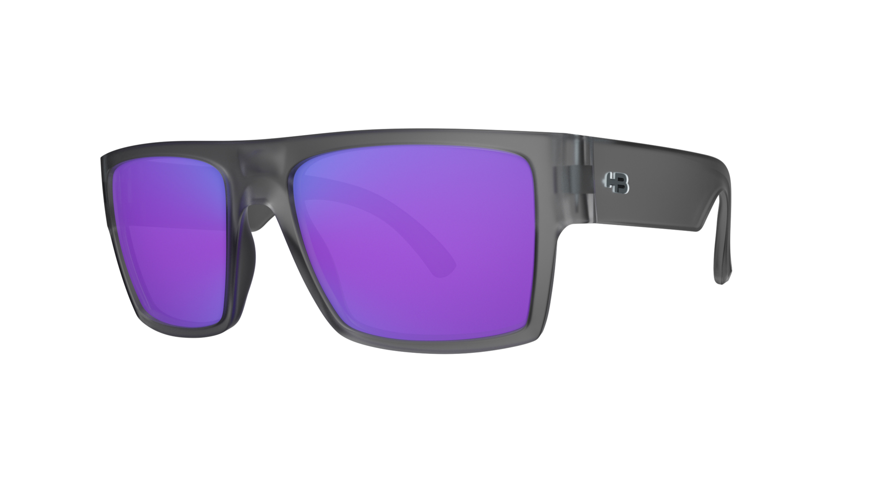 Óculos HB Loud Matte Onyx Blue Chrome