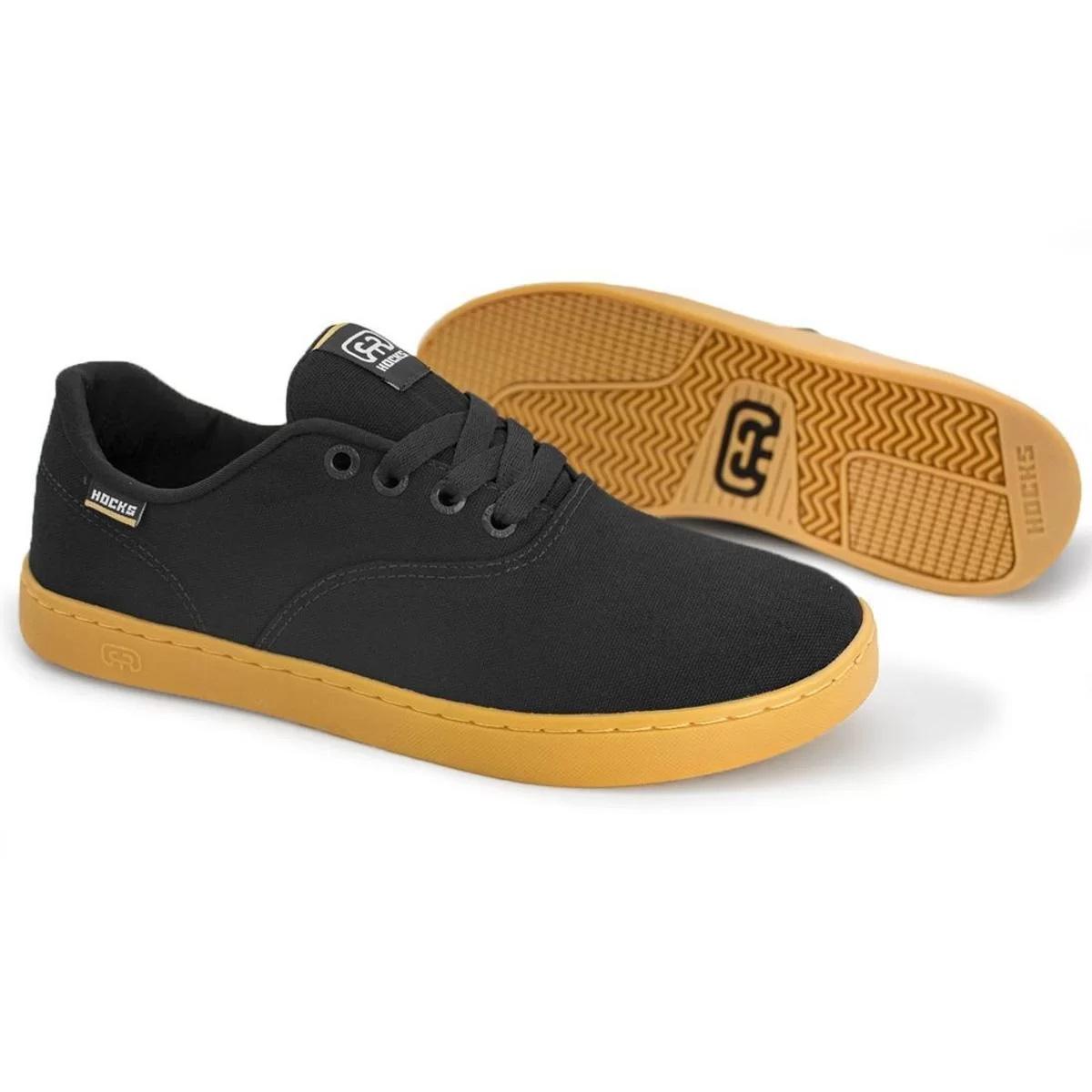 Tênis Hocks Sonora Skate Black/Natural