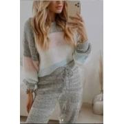 Conjunto tricot bicolor