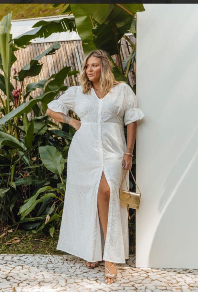 Vestido Em Laise Paloma Branco