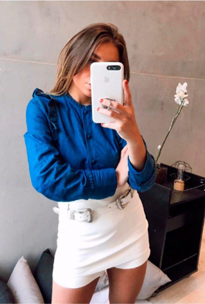 Shorts Saia Belt Off White