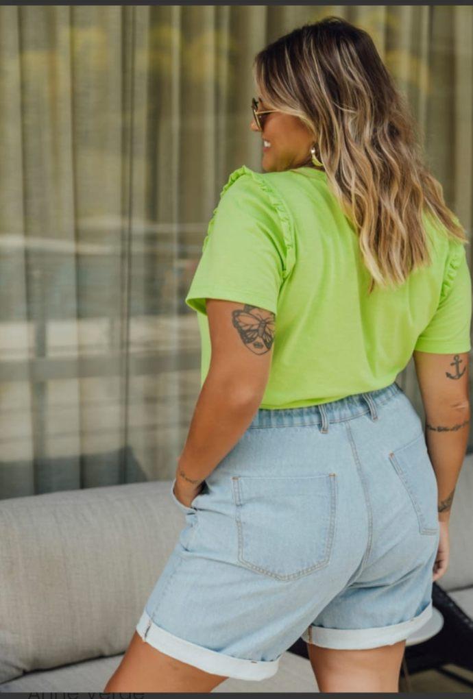 Shorts Larissa Jeans Claro