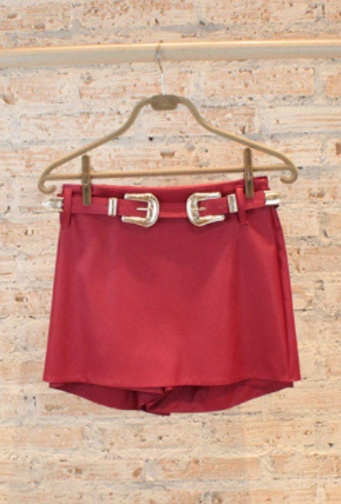 Shorts Saia Belt Vermelho