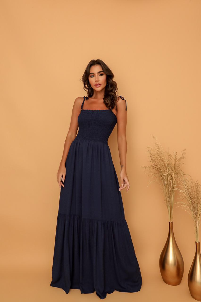 Vestido Alça Lastex