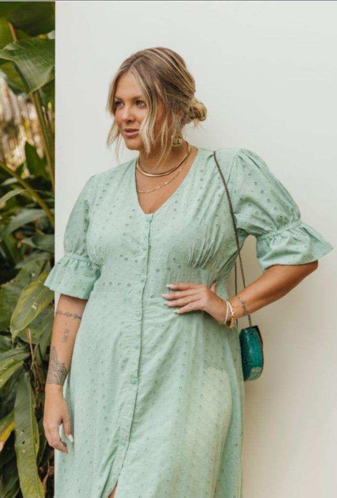 Vestido Em Laise Paloma Verde