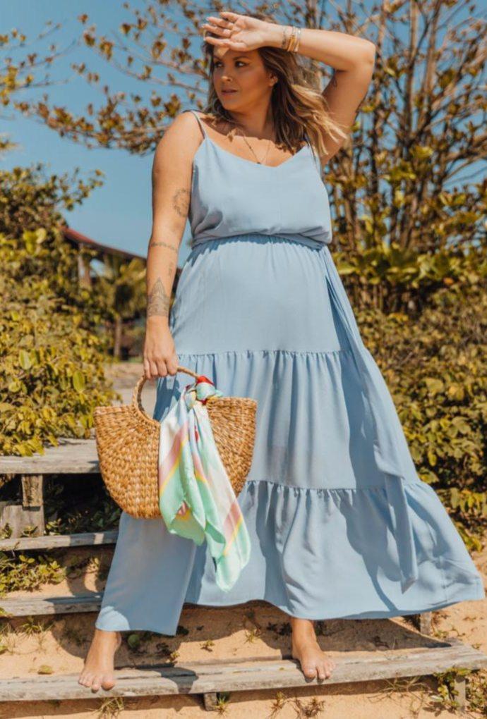 Vestido Fabia Azul Serenety