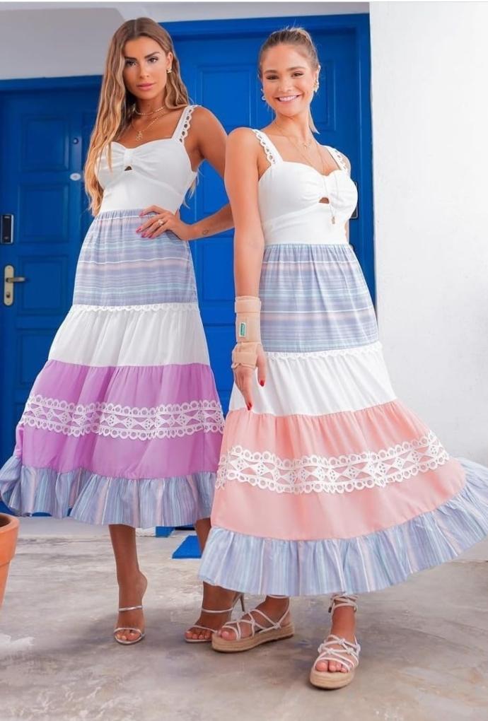 Vestido Listras Coloridas