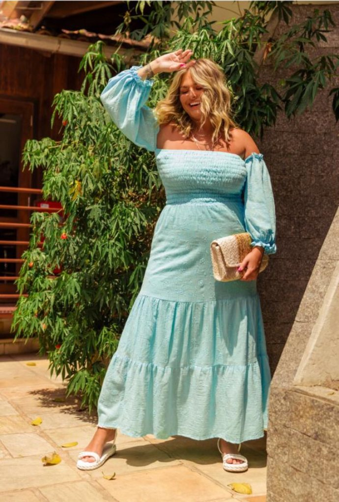 Vestido Malu Azul Acqua