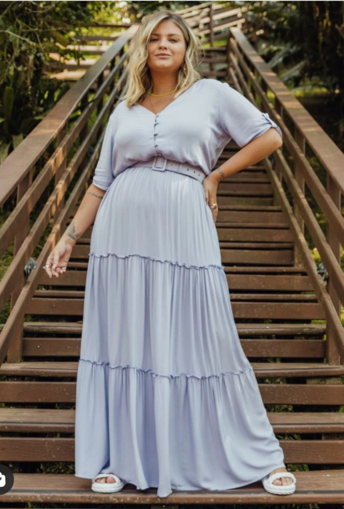 Vestido Maria Clara Azul claro