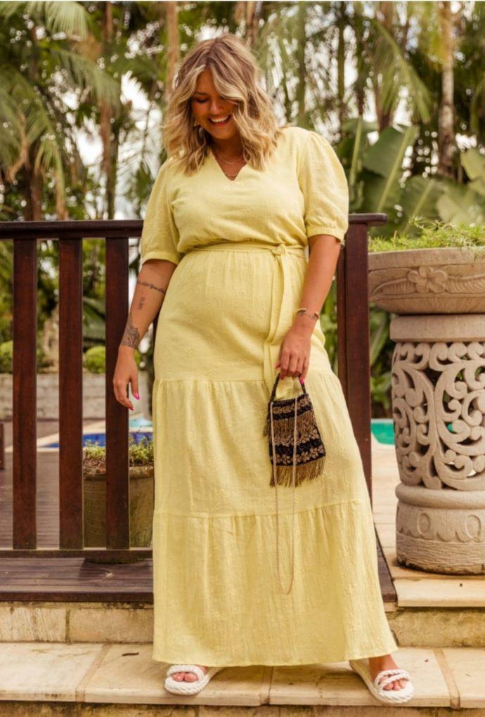Vestido Tamires Amarelo Luz