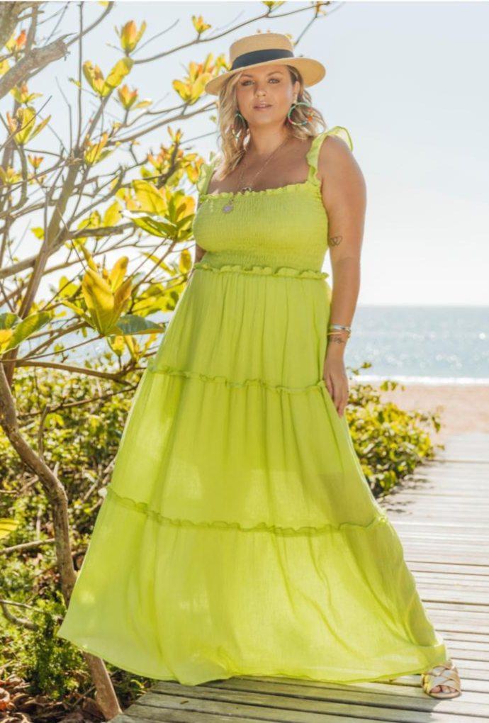 Vestido Veronica Abacate
