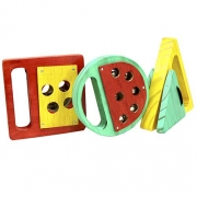 Conjunto Percussão Baby Geométrica 3 pçs Jog Vibratom P3698
