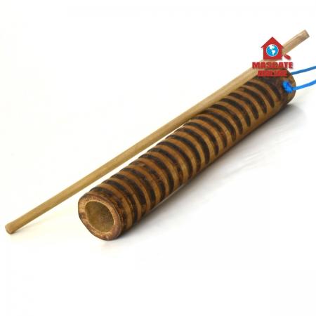 Reco Reco bambu 20cm ranhuras médias MB Capoeira