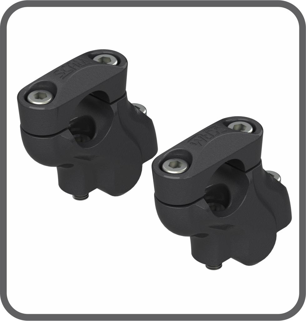 Adaptador Fixo Guidão 42 - 25mm Preto (par) Scam