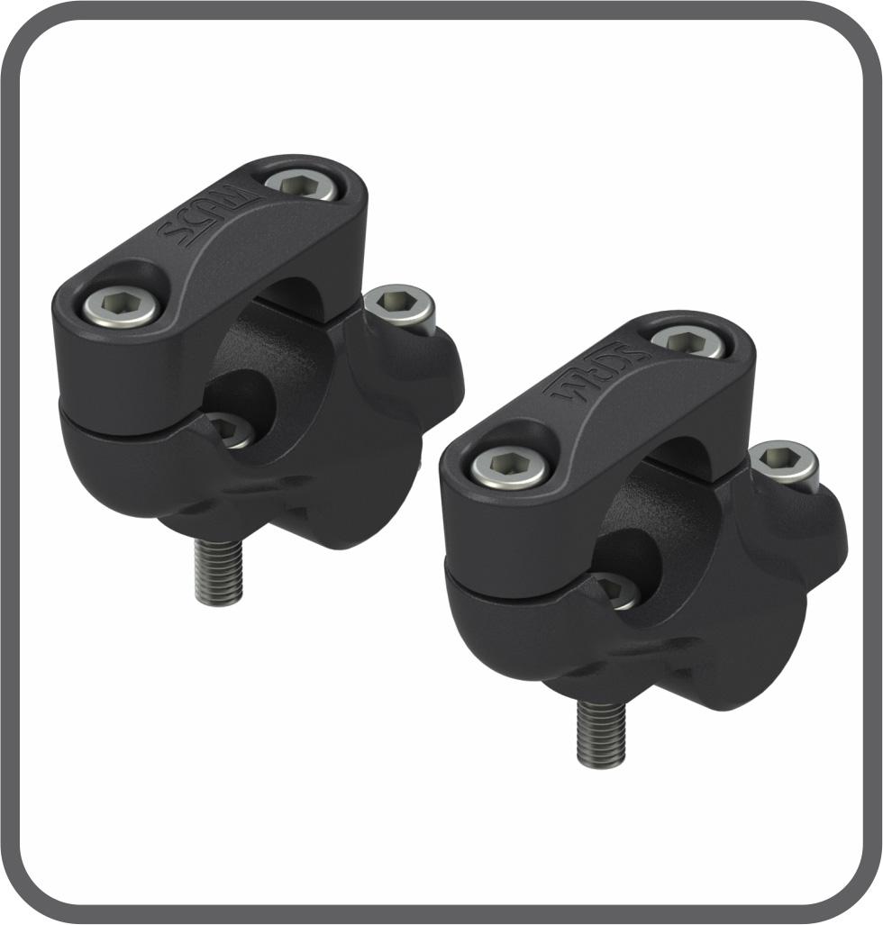 Adaptador Fixo Guidão A32mm-D25mm Preto (par) Scam