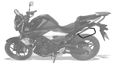 Afastador alforges Yamaha MT03 e R3 tubular Scam