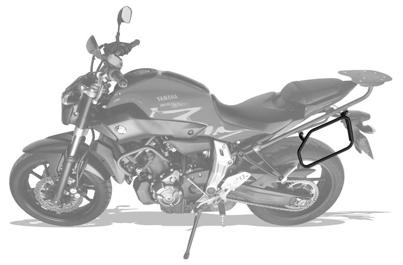 Afastador Alforges Yamaha MT07 - Scam