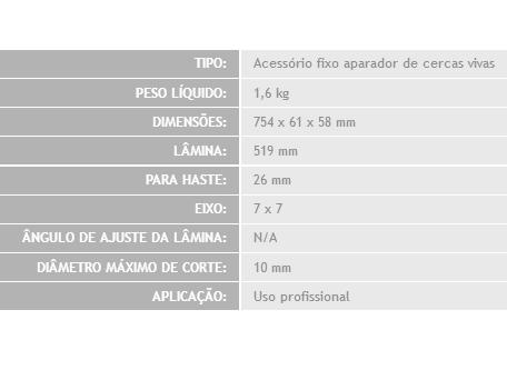 Aparador profissional Nakashi KA267-F p/ roçadeira