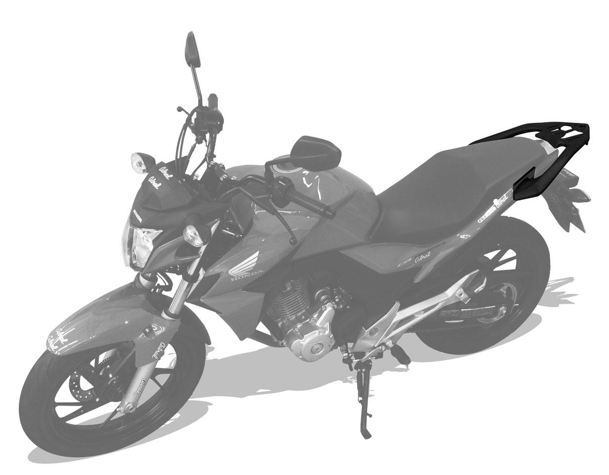 Bagageiro Liga Leve Honda CB Twister 250cc - Prata