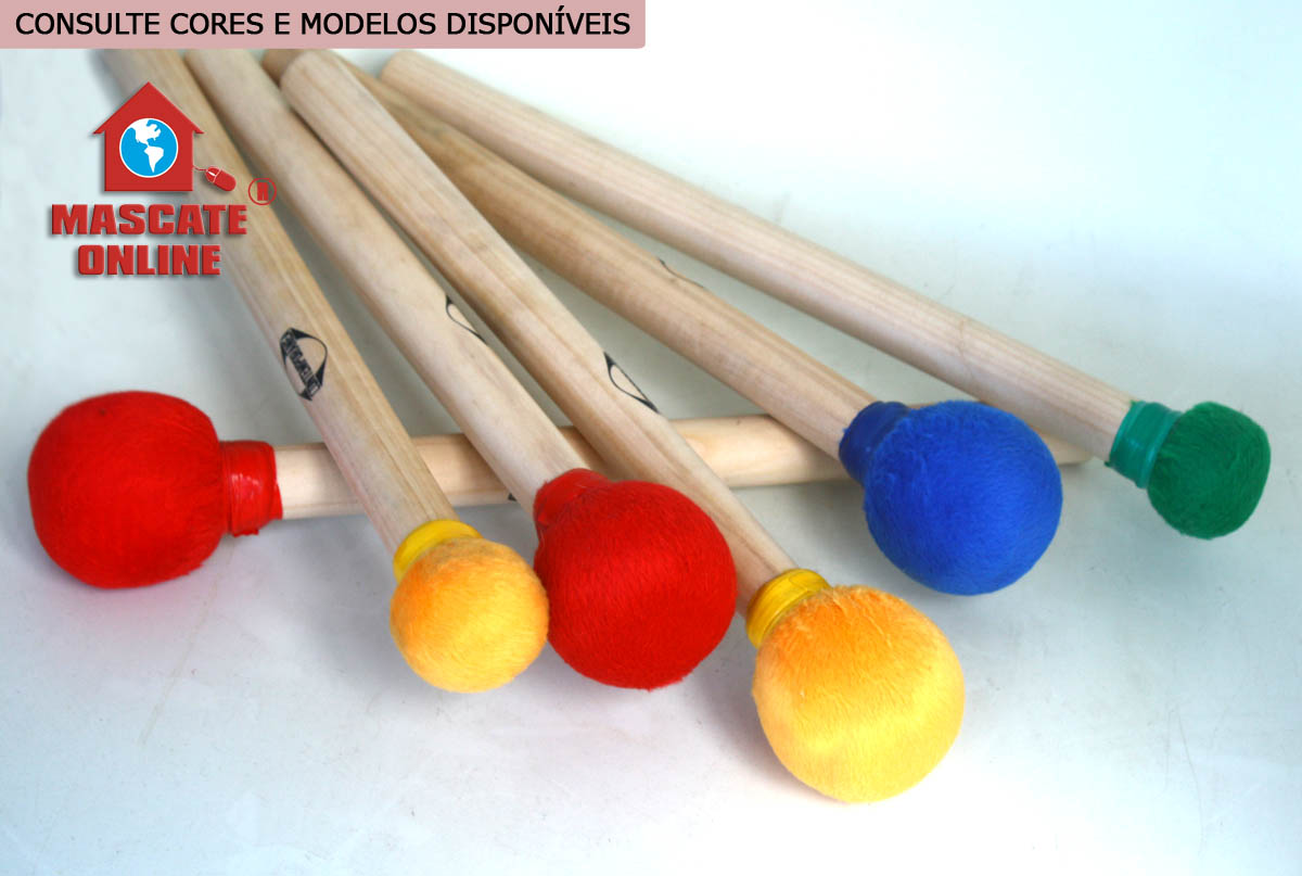 Baqueta de madeira Surdo 1ª e 2ª Contemporânea 39AC Amarela