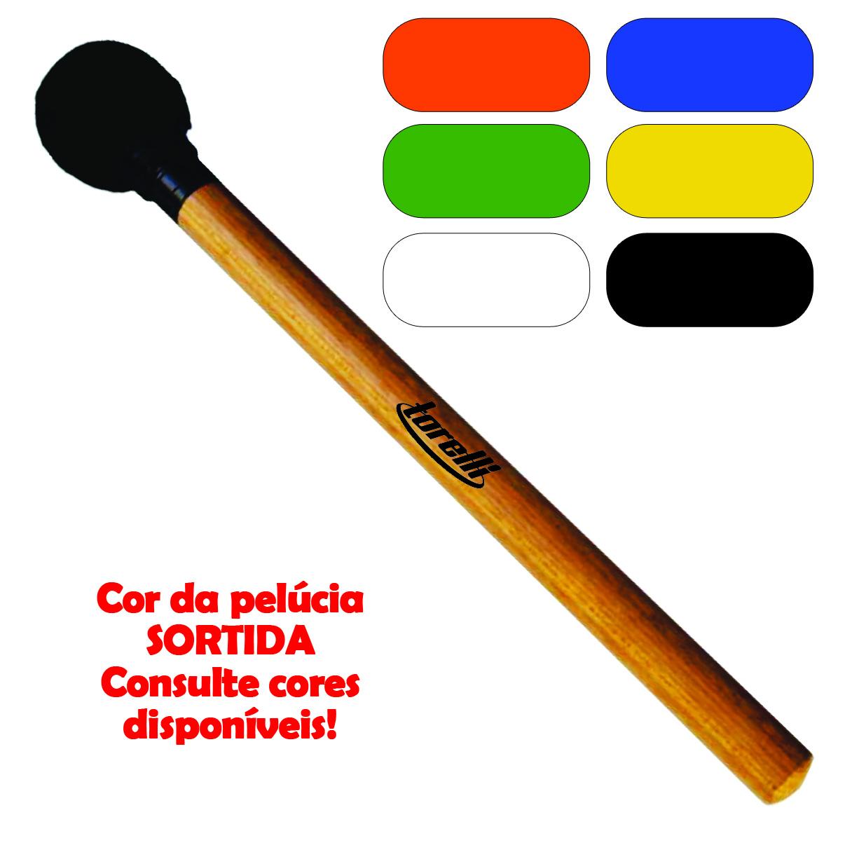 Baqueta Surdo Madeira Torelli TQ 083 Cores Sortidas