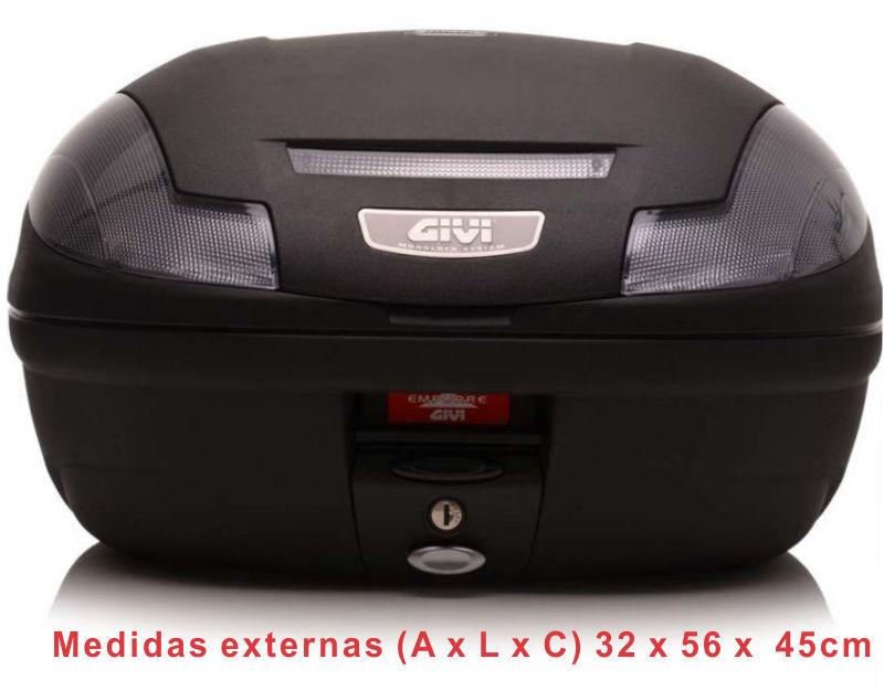 Bauleto Givi E470NT Fumê Monolock 47 litros